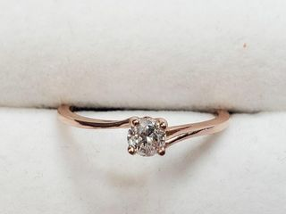 14K Rose Gold Diamond  0 25Ct I1 H I  Ring