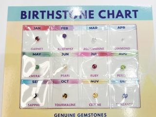 Birthstone Chart  Approx value  300