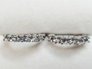 Silver White Topaz Hoop Earrings