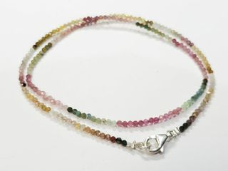 Silver Tourmaline 16  Necklace