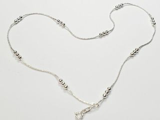 Silver 16  4 4G Necklace