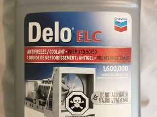 Case of 6 Delo ElC Red Coolant