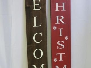 Welcome Merry Christmas  reversible  Sign