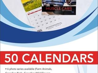 50 personalized promotional calendars