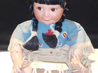 Artaffects Song of The Sioux Porcelain Doll