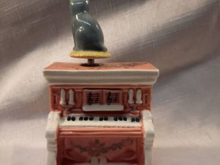 Cat on Piano Musical Collectible