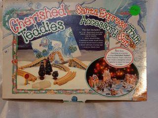Enesco 1996 Cherished Teddies Santa Express Train Accessory Set Christmas