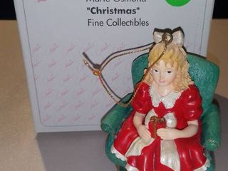 Marie Osmond Christmas Fine Collectibles Girl in Chair With Present