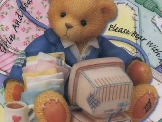 Cherished Teddies Computer Set  Terry the Computer Bear with Mouse Pad and Screen Saver