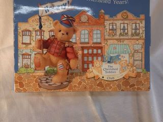 Cherished Teddies By Enesco lanny Marching Bear  hooray  Flag Ct105