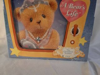 The Enesco Cherished Teddies Figurine Dog Julia Bearon As Gloria Growlette Bear