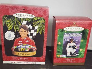 lot of 2 Hallmark Keepsake Ornament  Jeff Gordan and Dale Earnhardt