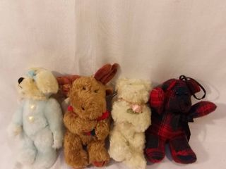 lot of 4 Boyds Bears without Original Tag