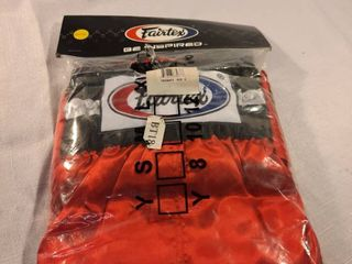 Fairtex Bt18 Red Trunks Mma Shorts Muay Thai Kick Boxing Satin Fighting Xxl