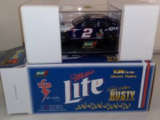 Revell Collection Miller lite Rusty Wallace  Elvis Presley Diecast Replicas Bank Set