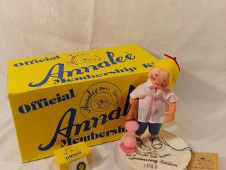 Annalee Doll Society Membership Kit Original Box and Tag with Pin