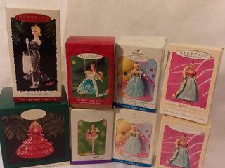lot of 8 Hallmark Keepsake Ornament Barbie Ornaments Collectors Series