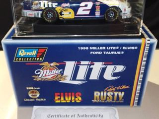 Revell Rusty Wallace  2 1998 Miller lite Elvis Presley Ford Taurus 1 24 Scale Diecast Replica