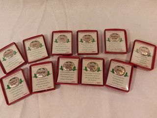 lot of 11 Christmas Wishes Small Tokens
