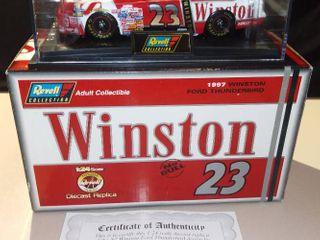 Revell Jimmy Spencer  23 1997 Winston Ford Thunderbird 1 24 Scale Diecast Replica