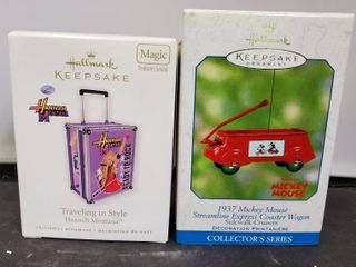 lot of 2 Hallmark Keepsake  Mickey Mouse and Hannah Montana
