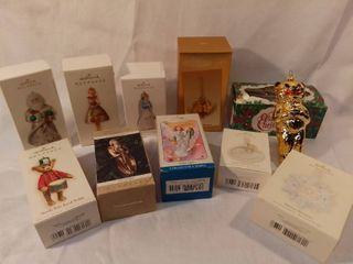 lot of 10 Hallmark Keepsake Ornaments Angels and Christmas Ornaments