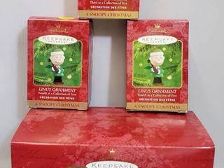 lot of 4 Hallmark Keepsake  A Snoopy Christmas Collection
