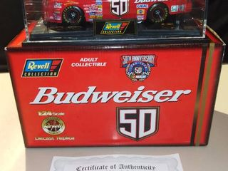 Revell Ricky Craven 1998 Budweiser 50th Anniversary Chevrolet Monte Carlo 1 24 Scale Diecast Replica
