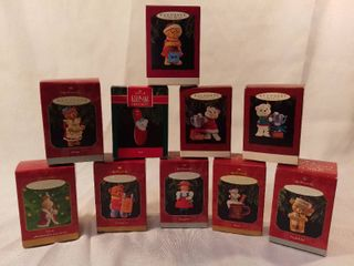 lot of 10 Hallmark Keepsake Ornament Family Members Ornaments
