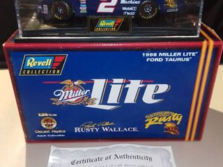 Revell Rusty Wallace  2 1998 Miller lite Ford Taurus 1 24 Scale Diecast Replica