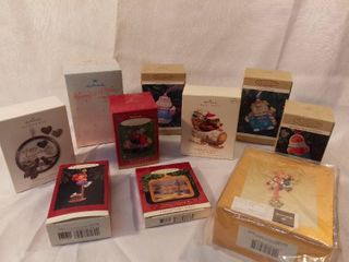lot of 10 Hallmark Keepsake Ornament Various Christmas Ornaments