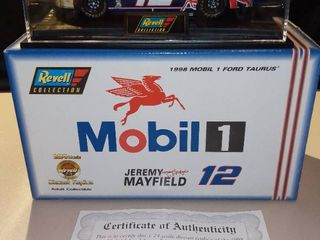 Revell Jeremy Mayfield  12 1998 Mobil 1 Ford Taurus 1 24 Scale Diecast Replica