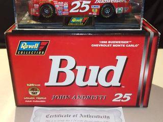Revell John Andretti  25 1998 Budweiser Chevrolet Monte Carlo 1 24 Scale Diecast Replica