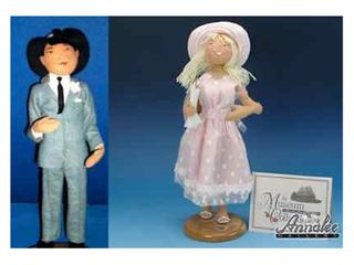 Annalee Rogers Store doll Couple Museum Collection 1997