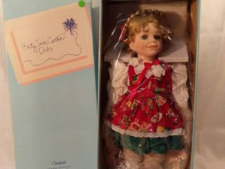 Betty Jane Carter Dolls An Original limited Edition Musical Porcelain Collector Doll Christmas