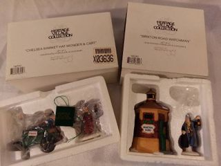 lot of 2 The Heritage Village Collection Christmas Figurines