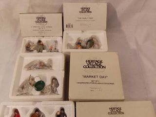 lot of 4 The Heritage Village Collection Christmas Figurines