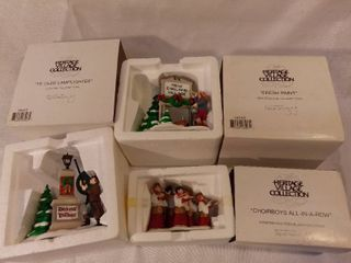 lot of 3 The Heritage Village Collection Christmas Figurines