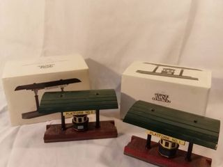 lot of 2 The Heritage Village Collection Victoria Station Train Station Figurine