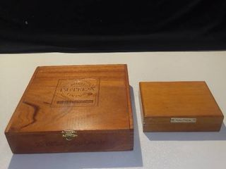 Royal Butera Wood Cigar Box and Wood Nautica Presentation Box