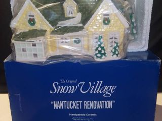 Department 56 Snow Village Nantucket Renovation Ceramic House