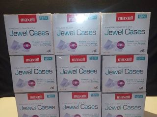 lot of Nine 12 Packs of Maxell Standard Clear CD and DVD Jewel Cases