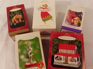 lot of 5 Hallmark Keepsake Ornament Christmas Ornaments