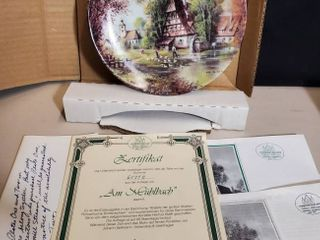 Decorative Plate with West Germany Certificate