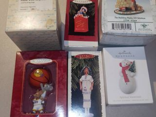 lot of 5 Hallmark Keepsake Ornaments and 1 Fitz and Floyd