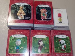 lot of 6 Hallmark Keepsake Ornaments