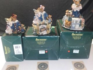 lot of 3 Boyds Bears and Friends The Bearstone Collection