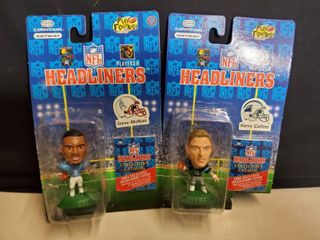 lot of 2  Steve McNair and Kerry Collins NFl Headliner Collectibles
