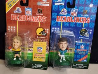 lot of 2   NFl HEADlINERS  Collectibles  BRETT FAVRE and MARK BRUNEll