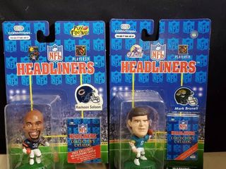 lot of 2 NFl HEADlINERS  RASAAN SAlAAM and MARK BRUNEll